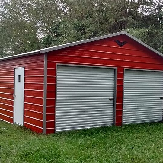 Eagle-Carports-24x26x9-Boxed-Eave-Garage